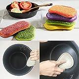 REFURBISHHOUSE La Cuisine antibactérienne en Microfibre tampons à récurer éponge Double éponge pour éponges Non abrasives,...