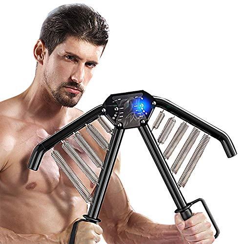 HYZXK Expansor de Pecho Power Twister, máquina de Entrenamiento de músculos de Brazos, Brazo, bíceps, Abdomen, Hombro, ejercitador de Brazos Power Twister, con Resistencia Ajustable de 3