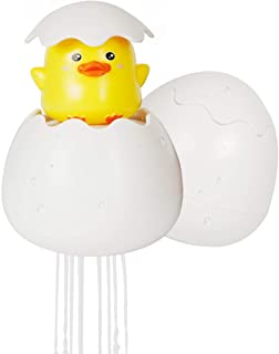 Sunny Jean Baby Bath Toys for Toddlers Educational Bath Time Fun Animals Hatching Duck Penguin Dragon Squirting Egg Kids Eco Bathtub Toys Spray Sprinkle Water (Duck)