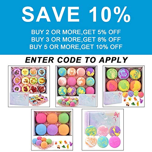 6 Large Bath Bombs for Kids with Surprise Toys Inside, Kids Safe Organic Bubble Bath Bombs Gift Set, Natural Vegan Essential Oil Spa Bath Bombs for Kids Girls Boys Birthday (4.2 oz) 4