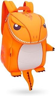 Coavas Kids Backpack Boys Girls Primary School Book Bags, Cute Orange Dinosaur Christmas Gift for 2- 8 Y Kids