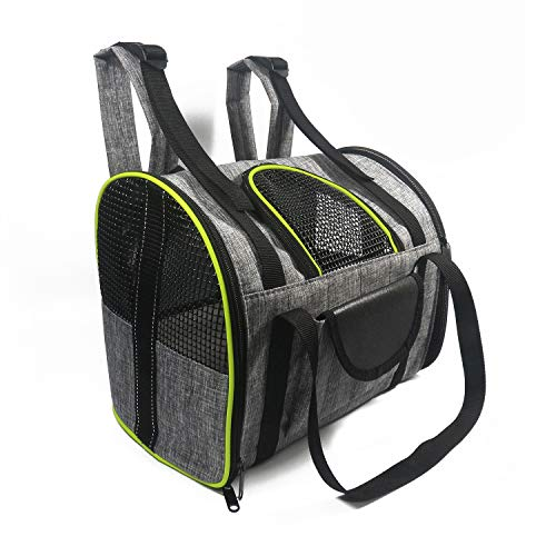 PETCUTE Dog Carrier Backpack Pet Backpack Carrier Cat Carrier Foldable Dog Travel carrier Shoulder Bag for dog and cats cycling, Hiking