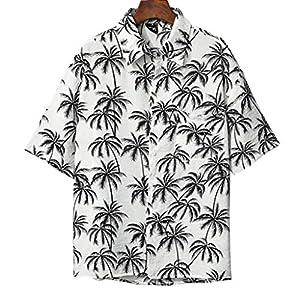 アロハシャツ メンズ オシャレ 大きいサイズ 半袖 ハワイアンシャツ ビーチシャツ 夏服 5分袖 かりゆしウェア 柄シャツ クール リゾート 通気 軽量 速乾 プリント 祭り 海水浴 日焼け止め UVカット 花火大会XXLホワイト