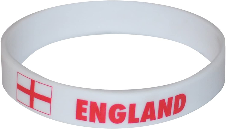 Komonee England Weißes Weltmeisterschaft Olympia-Silikon-Armbänder (100er Pack) B077V65RQ9  Vollständige Spezifikationen