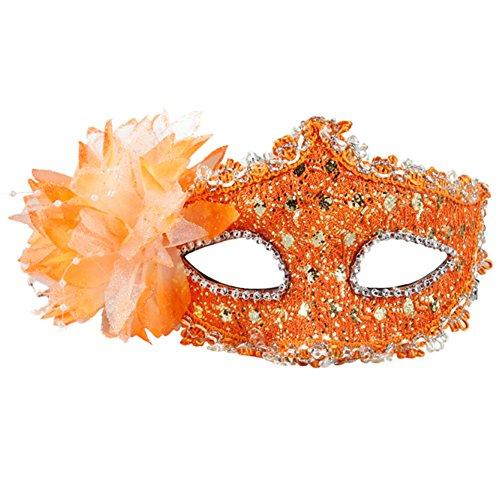 Belle vénitienne Jolie Masquerade Masque des yeux Fancy Dress Accessoire Orange