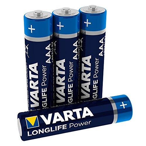 VARTA Longlife Power AAA Micro LR03 Batterie (4er Pack) Alkaline Batterie - Made in Germany - ideal für Spielzeug Taschenlampe Controller und andere batteriebetriebene Geräte