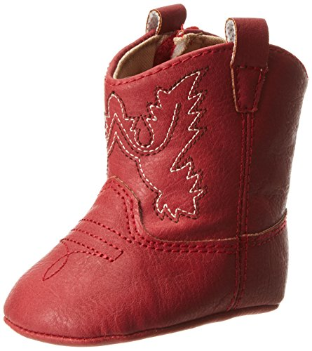 M&F Western Kids Baby Girl's Infant/Toddler Jobie Bucker Boot, Mossy Oak/Pink, 1