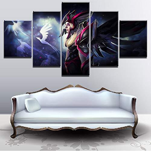 sakkdaull Modulaire Canvas Foto Home Decor Woonkamer Wall Art 5 Stuks Wraakzuchtige Geest Schilderen HD Print Spel Poster werk