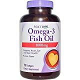 Natrol Omega-3 Fish Oil 1000mg, 150 Softgels (Pack of 2)