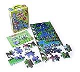 Miniland- Animales Salvajes Puzzle con animalitos y números en estuche (36001)