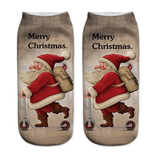 HBWHY Calcetines de Navidad Patrón Calcetines Casual Calcetines Calcetines Térmicos Calcetines Preciosos Calcetines para Mujeres Hombres, Estilo 12 #