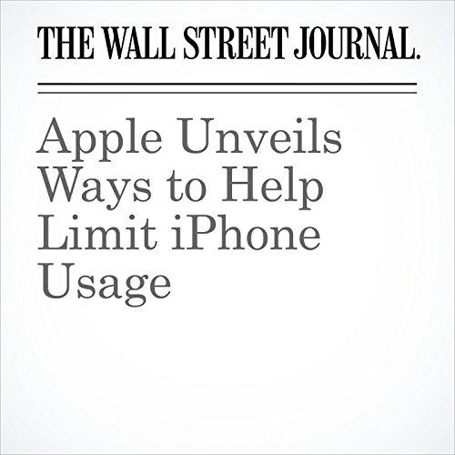 Apple Unveils Ways to Help Limit iPhone Usage copertina