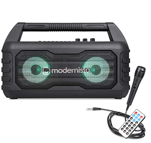 Modernista Sound-Beast 32 W Portable Bluetooth Outdoor Party Speaker with Karaoke Mic | Multi-Features - Extra Bass, Bluetooth 5.0, FM, USB, Micro SD, Remote | LED Light Modes |Playtime Upto 4 Hrs