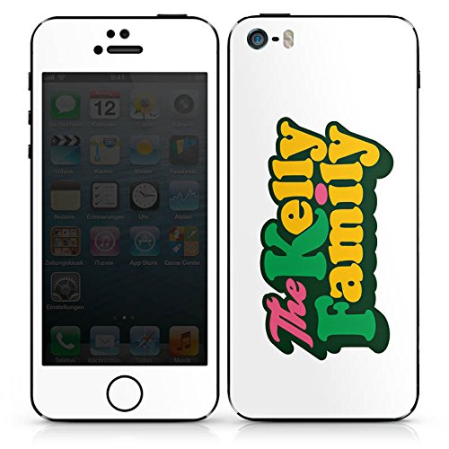 DeinDesign Apple iPhone SE Folie Skin Sticker aus Vinyl-Folie Aufkleber The Kelly Family Logo Offizielles Lizenzprodukt