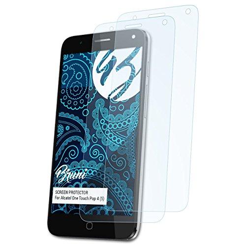 Bruni Schutzfolie kompatibel mit Alcatel One Touch Pop 4 (5) Folie, glasklare Bildschirmschutzfolie (2X)