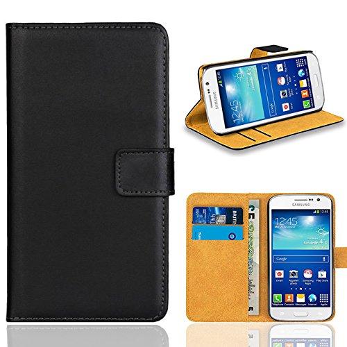 Samsung Galaxy Grand Neo / Grand Neo Plus Handy Tasche, FoneExpert® Wallet Case Flip Cover Hüllen Etui Ledertasche Lederhülle Premium Schutzhülle für Samsung Galaxy Grand Neo / Grand Neo Plus (Schwarz)