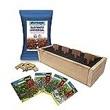 PLANTAWA Kit de Cultivo Jardinera Slim, Kit Completo para Cultivar Hierbas Aromáticas y Culinarias, Semillas Huerto Urbano para Casa Jardín Decoración Plantas Ecológicas Interior y Exterior