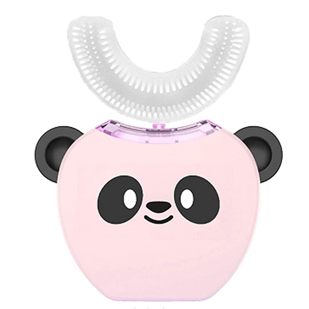 コテージ絶滅した知覚する電動歯ブラシ子供コールドライトU型クリーニング超音波歯ブラシ防水旅行