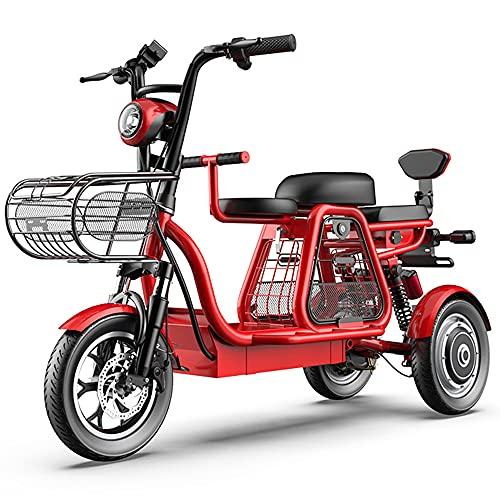 DREAMyun Bicicletas Eléctricas, Bicicleta Eléctrica De 3 Ruedas, 48V500W Motor, batería de Larga duración y Pantalla de Alta definición LEC, Faros LED/Choque múltiple Sistema de absorción