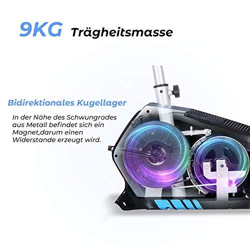 ISE Fahrrad Ergometer Fitness Heimtrainer mit Pulssensoren SY-8801 - 2