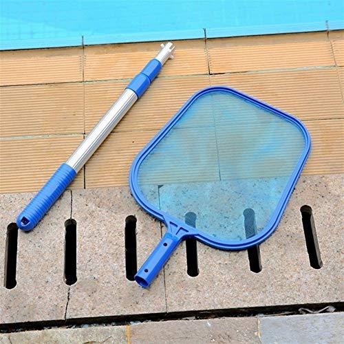 ZHEN-Z Fischteich-Skimmer Net Pool Reinigung Blatt Skimmer-Netzrahmen Net for Reinigung Schwimmbad/Bergungs Pool-Wasser-Müll (Color : A with Rod)