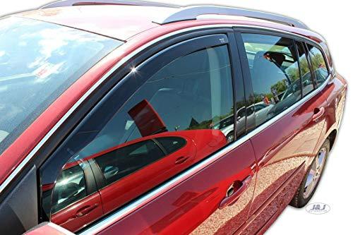 J&J AUTOMOTIVE   Deflecteurs d'air déflecteurs de Vent Compatible avec Renault Laguna III 5 Portes 2007-2014 2 pièces