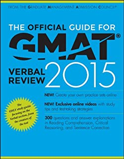 The Official Guide for Gmat Verbal Review 2015 with Online Question Bank and Exclusive Video + Website