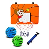 Indoor Mini canestro con tabellone 40,6 x 30,5 cm infrangibile – Include 2 Mini Basketballs & Pompa a Mano, Orange