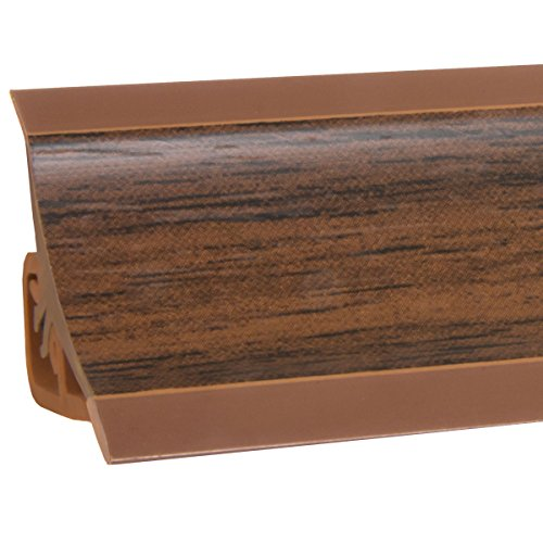 HOLZBRINK Küchenabschlussleiste Nuss dunkel Küchenleiste PVC Wandabschlussleiste Arbeitsplatten 23x23 mm 150 cm