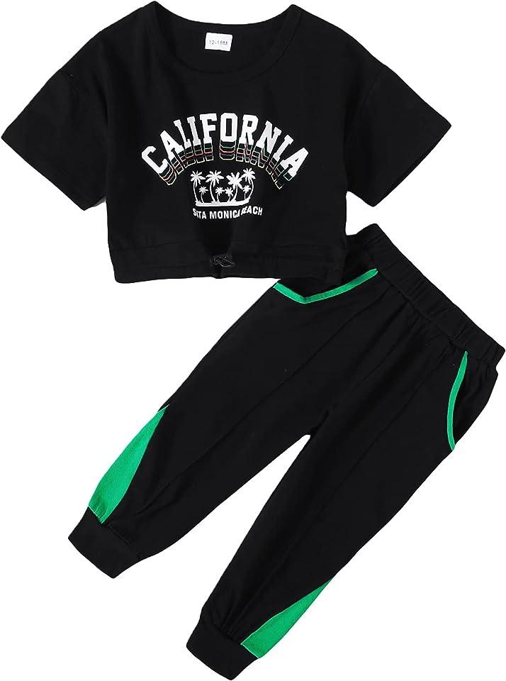 Babykleidung Set Baby Mädchen Leopard Langarm Sweatshirt T-Shirt Top/Body + Hose Kleidung Outfit (12 Monate-5 Jahre)