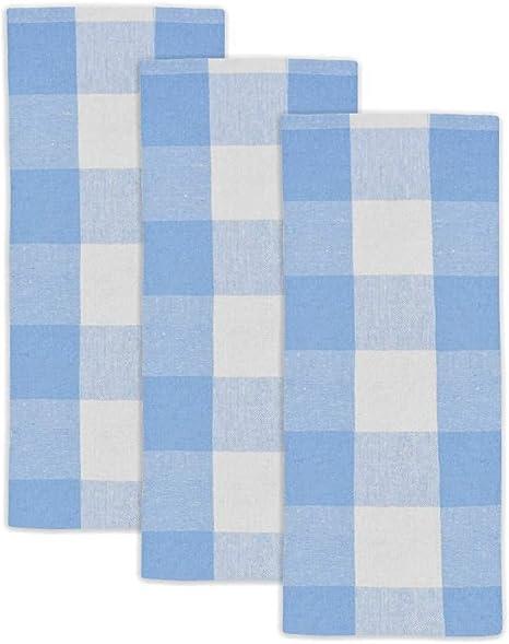 Amazon Com Blue Cotton Dish Towels Buffalo Plaid Kitchen Towels Blue Plaid Dish Towel Blue Dish Towels For Kitchen Cotton Checkered Kitchen Towels Plaid Tea Towel Set Of