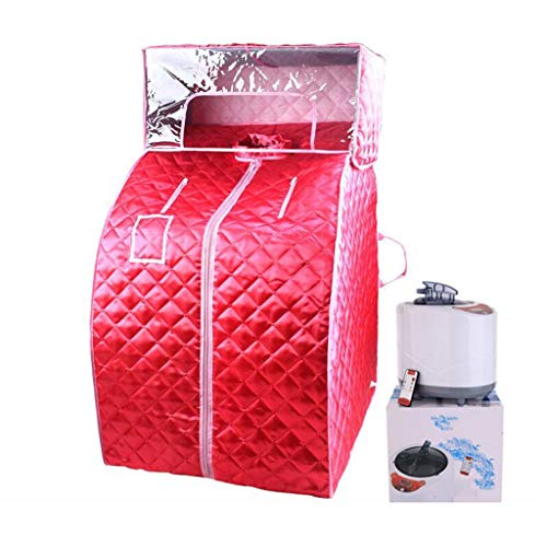 Yxx max Boîte de Bain de désintoxication de Perte de Poids de Perte de Poids de Transpiration de Pleine Lune d'utilisation de ménage portatif de Sauna (Couleur : Red)