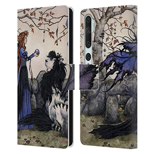 Official Amy Brown Offerings Fantasy Leather Book Wallet Case Cover Compatible For Mi CC9 Pro/Mi Note 10 / Pro