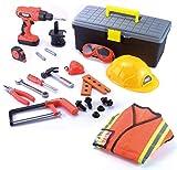 JOYIN Construction Worker Costume Role Play Tool Toys...