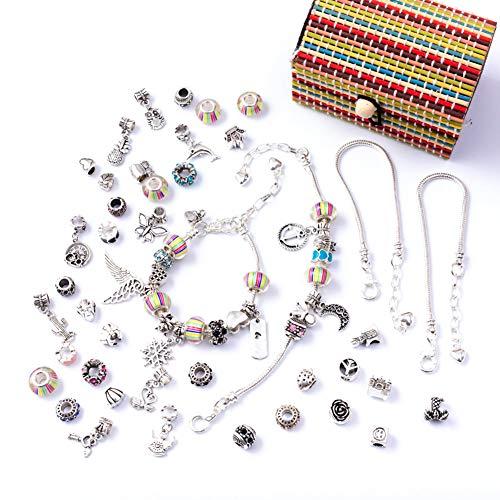 Queta Kit di Accessori per Gioielli Fatti a Mano, Set di Perline e creazione di Gioielli con pinze Strumenti per Principianti di Crafter Fai-da-Te