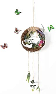 SOJOR Rattan Circle Artificial Garland Wall Decoration Pendant Home Decoration Hanging Wreaths Home Door Office Party Deco...