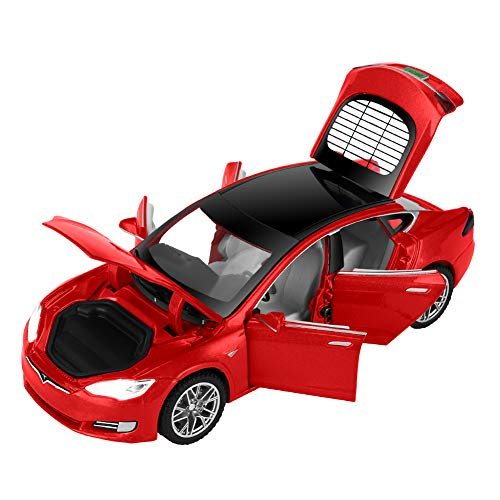 ZHFUYS 1:32 Diecast Model S Cars,Alloy Casting Kids Toy Cars,Pull Back Vehicles Toy Car Boys and Girsls Kids Gift(red)