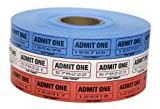 The Coin-Tainer Co. Single Assorted Raffle Ticket Rolls, 2000 Count, 1 Roll, Colors May Vary (60640-63773)