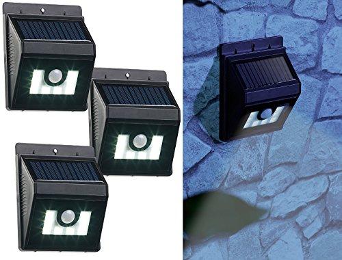Applique solaire à LED 180 lm avec détecteurs de mouvement/obscurité - x3 [Lunartec]