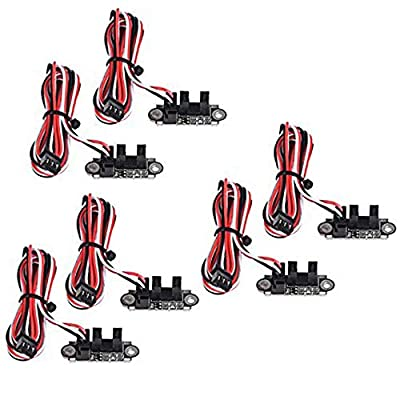 Optical Endstop with 1M Cable Photoelectric Endstop Light Control Limit Switch for 3D Printer?Pack of 5?