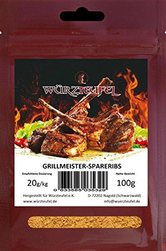 Spareribs - Gewürzmischung, traditionelles amerikanisches Grill und Bratgewürz, Grillmeister Edition. Beutel 100 Gramm.