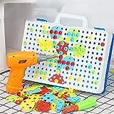 QOUP Tableros de Clavijas de Bricolaje para niños, Juguetes educativos, Rompecabezas de uñas de Setas, Juego de Juego de combinación de Colores, para niños Mayores de 3 años