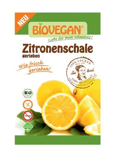 Bio Vegan Zitronenschale, gerieben Bio Backzutat, 10er Pack (10 x 9 g)