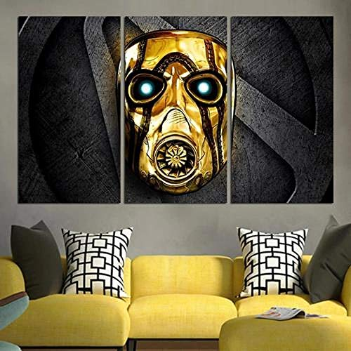 QMCVCDD Moderno Cuadro En Lienzo 3 Piezas Borderlands The Handsome Collection HD Poster Pictures Paintings Home Decor Impresión Artística Fotográfico Regalo