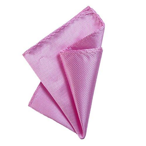 DonDon fazzoletto da taschino 21 x 21 cm per uomo adatto ad occasioni cerimoniali - rosa intenso