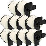 300 Etichette per Rotolo 20x Compatibili Rotoli DK-11202 62mm x 100mm Etichette adesive per Brother P-Touch QL-500 QL-550 QL-560 QL-570 QL-700 QL-720NW QL-800 QL-810W QL-820NWB QL-1050 QL-1110NWB