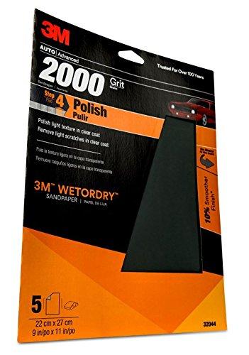 Preisvergleich Produktbild 3M Be Cool Shocks 32044 Schleifpapier für Nass- oder Trocken-Autos,  Körnung 2000,  9 x 11 mm,  5 Stück