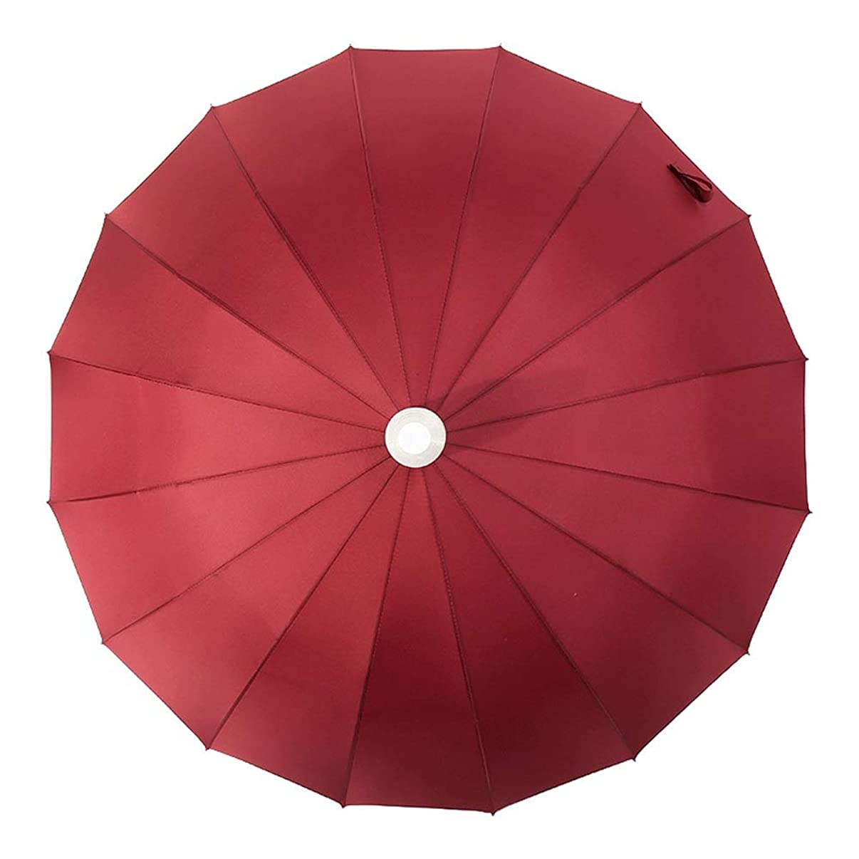 Oversized Long Handle Straight Umbrella,Golf Umbrella Windproof,Non-Slip Handles and Men's and Women's Protective Travel Kits (Color : Red)