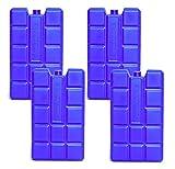 NEMT 4 Stück 400 ml Kühlakkus Kühlelemente für Kühltasche oder Kühlbox bis 20 h Kühlpack Kühlakku