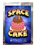 Space Cake 3.5g Mylar Smell Proof Zip Lock Empty Bags - 30pcs